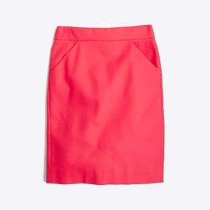 J. Crew  The Pencil skirt in double-serge cotton